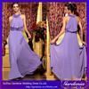 New Arrival Unique Design Elegant A-line Halter Sleeveless Handmade Flower Ruffled Chiffon Light Purple Cocktail Dress(CD068)