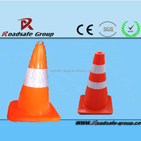 new design double reflective red traffic cone collapsible