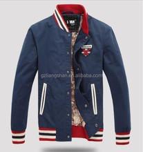 Wholesale price best price men slim fit jackets baseball jacket blue cheap baseball jackets