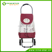 Fashion product multi-function two wheels foldable shopping trolley bag