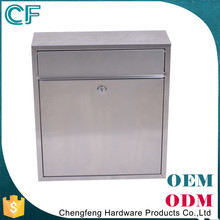 Die Casting Stainless Steel Wall Hanging Rectangle waterproof Small Mailbox