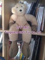 BG80919 Genuine real mink fur bear toy 2015 fashion designer