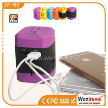 Pantone color promotional Advertising promotional gifts with OEM logo,universal charger using 150 countries