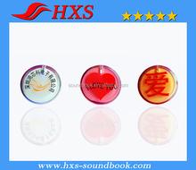 Shenzhen export plastic light badge children love light badge with OEM design