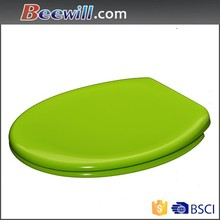 Colored sanitary ware products green soft close toilet seat