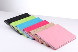 PU case for ipad 2 3 4 business use high quality factory manufacture
