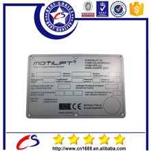 Customized small metal company Logo plate, Metal Nameplate with Company Logo