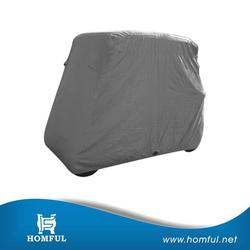 high quality polyester golf cart cover green pu golf cart cover drivable golf cart cover