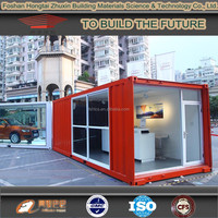 2015 prefabricated office container house prefab showroom
