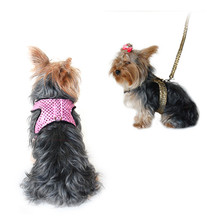Pet Dog Sparkle Sequin Jersey Harness with Leash