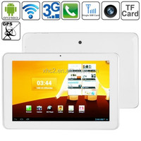 Hot selling SANEI N10 Quad Core White, 10.1 inch 3G + Voice function Android 4.1 Tablet PC