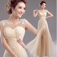 Mermaid chiffon Evening Dress maxi prom party dress 2015 New Fashion