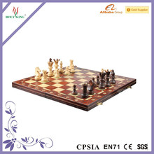 Brand New Hand Crafted Wooden Chess And Draughts Set