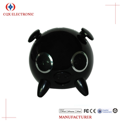 15w Super Bass loudspeaker Cute cartoon animal pig USB speaker stereo sound card with remote touch subwoofer