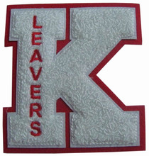 customized letter K Chenille Patches