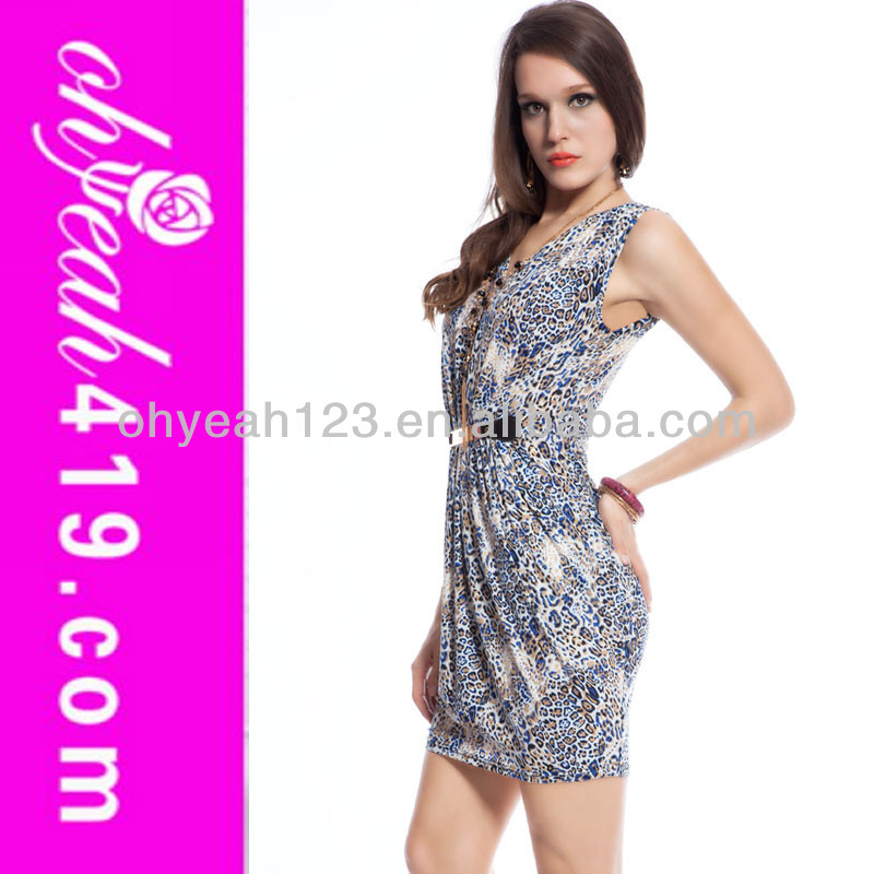 2014 sexy lady delgado apretado del club a corto vestido con cinturón