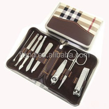 YangJiang Factory Leather Case manufacture Manicure Nail Clipper Cuticle Trimmer Set