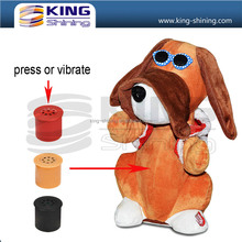 plush or pp cotton stuffing material type and singing musical plush dog toy