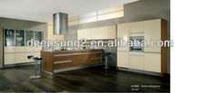 Elegant Simplicity combination with lacquer and veneer kitchen cabinet