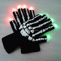 Party favor Glow Cotton nylon led Flashing gloves in the dark