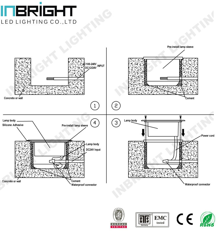 ip67 20w 30w led cob uplight outdoor