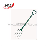 Alibaba hot sale garden forks with plastic handle made in China