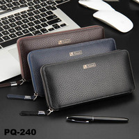 Leather Large Wallet Zipper Smartphone Purse for men women