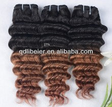 2014 new style ombre hair Top quality 100% virgin five A deep wave peruvian hair