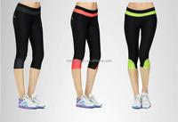 High quality OEM women's compression capri yoga pant