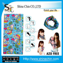 Wholesale seamless tubular dye sublimation printed paisley bandana