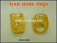 Special cheapest resin amber rings wholesale lynx stone jewelries nature