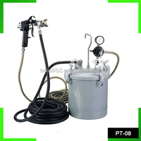 Sample available paint spray gun with tank PT-08