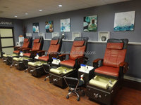 Luxury design t4 spa pedicure chairs / bench / station / equipment full body massage chair