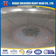 Hemispherical head with middle hole steel hemispheric heads for pressure vessel