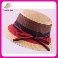 cheap china wholesale stripe summer beach hats paper 2015 fashion straw hat