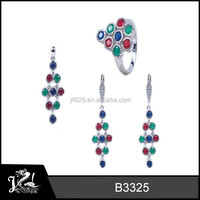 african bridal beaded jewelry set,fashion wedding gift, multicolor 2014 spring trendy jewelry