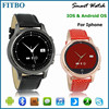 Classic Leather bluetooth smartphone watch for iphone5 5s /iphone6 6s / android