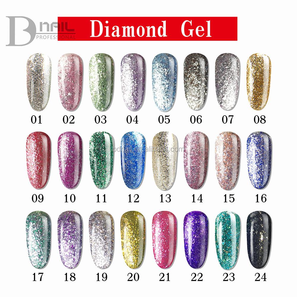 2016 Bd Diamond Glitter Gel Nail Polish,Nail Polish Diamond Gel ...