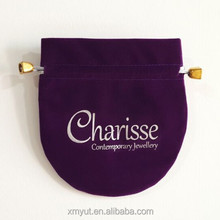 custom velvet gift bag/velvet pouch for jewelry