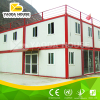 Practical container villa with roof tile