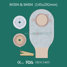 Standard Two piece hydrocolloid adhesive colostomy bag with clamp