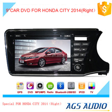 Car DVD GPS Stereo for HONDA for CITY 2014(right) In Dash Navigation Receiver with Capacitive Digital Touch Screen