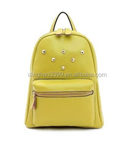 Little cute yellow backpack leather wholesale promotional fashion backpack china