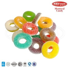 Chewy multi-color ring gummy candys