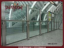 customized U channel glass railings balcony secure fence