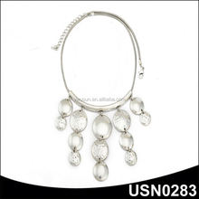 Special zinc alloy silver choker statement tribe antique necklace