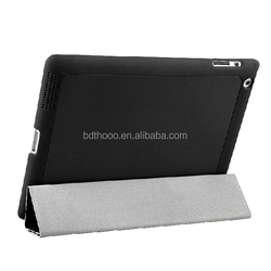 wholesale black top leather case for ipad 4 made in china