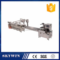 Fast speed Two lane biscuit sandwich machine connected flow packing machine