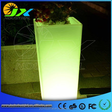 CE ROHS Approved Illumilating Rechargeable RGB Garden Plastic Flower Pot Trays