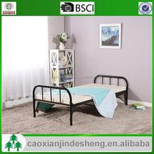 simple design black powder coating single metal bed frame for kids